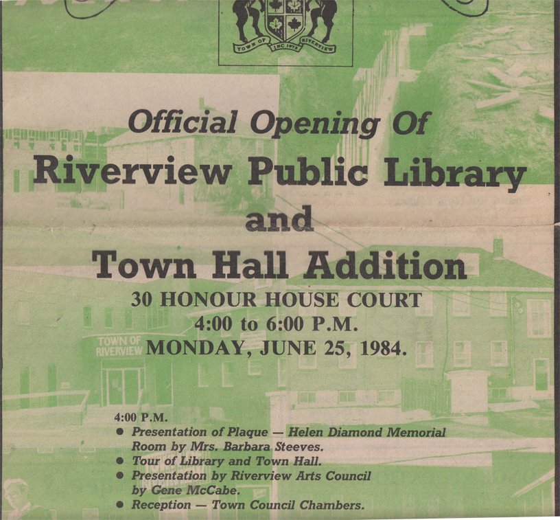 NewspaperBroadcast 1984 openingTownHallLibrary