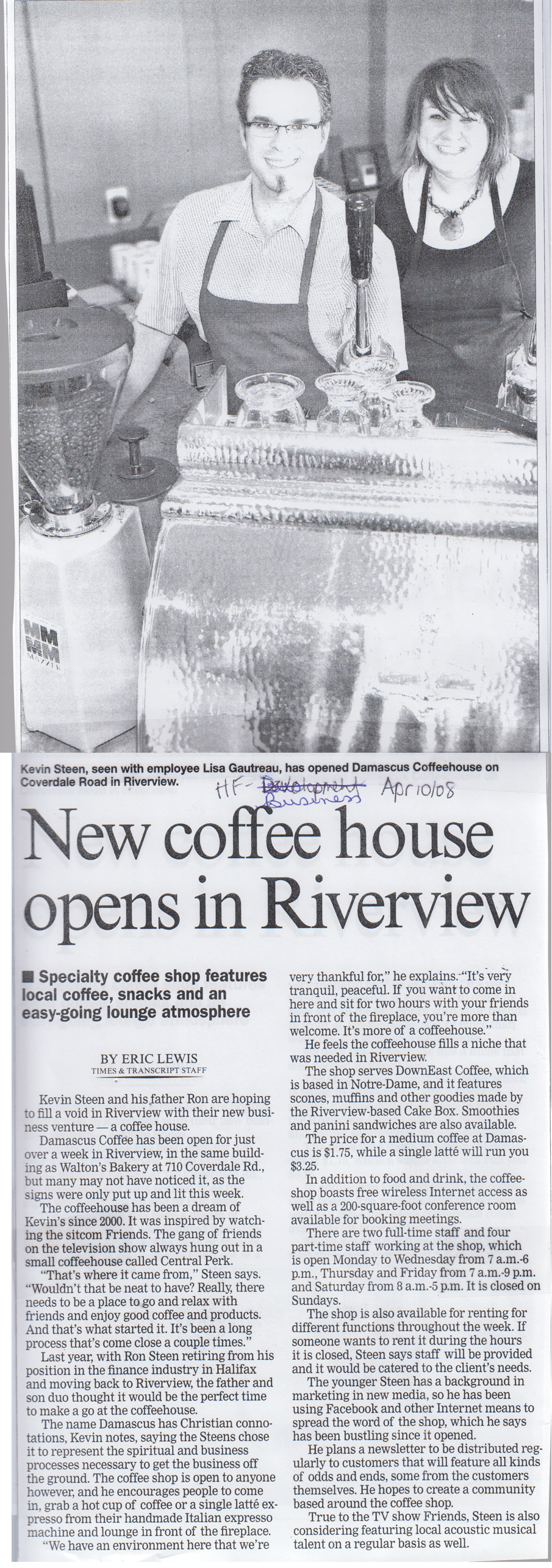 2008Apr10 NewCoffeeShopOpensInRiverview